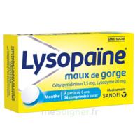 LysopaÏne Comprimés à Sucer Maux De Gorge Sans Sucre 2t/18 à SAINT-PRYVÉ-SAINT-MESMIN