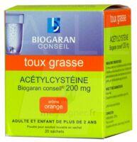Acetylcysteine Biogaran Conseil 200 Mg Pdr Sol Buv En Sachet B/20 à SAINT-PRYVÉ-SAINT-MESMIN