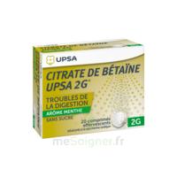 Citrate De Bétaïne Upsa 2 G Comprimés Effervescents Sans Sucre Menthe édulcoré à La Saccharine Sodique T/20 à SAINT-PRYVÉ-SAINT-MESMIN