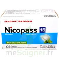 Nicopass 1,5 Mg Pastille Sans Sucre Menthe Fraîcheur Plq/96 à SAINT-PRYVÉ-SAINT-MESMIN