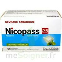 Nicopass 2,5 Mg Pastille Menthe Fraîcheur Sans Sucre Plq/96 à SAINT-PRYVÉ-SAINT-MESMIN