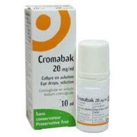 Cromabak 20 Mg/ml, Collyre En Solution à SAINT-PRYVÉ-SAINT-MESMIN